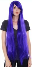"40"" Inch Long Purple Wig/Cap NEW - Role Play - Halloween Party Long purple hair"