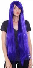 "40"" Inch Long Purple Wig/Cap NEW Cosplay Halloween Party Long purple hair"
