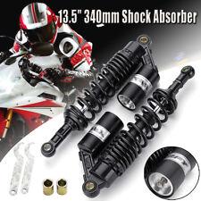 2X 13.5'' 340mm Motorcycle Shock Absorber Air Suspension Damper For Honda Yamaha