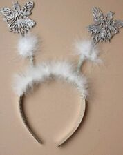 headband boppers angel antennae feathers party hendo bundle lot X10 silver