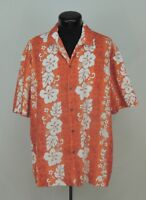 VTG Made Hawaii Hawaiian Shirt Aloha Republic Turtle Sail Hibiscus Tropical Luau