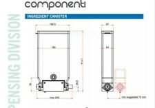 Componenti Vending Component 228P350DSN-45/17 Ingredient Canister