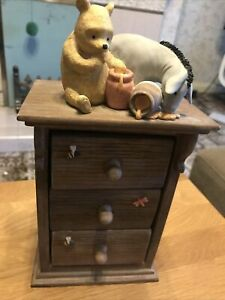 Classic Winnie The Pooh Ornament Chest of Drawers - Border Fine Arts