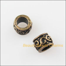 50Pcs Antiqued Bronze Tone Round Circle Spacer Beads Charms 5mm