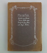 Me para celebrar poemas de Rainer Maria Rilke EA 1899-falla presión! primera edición