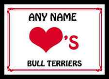 AMORE Cuore BULL Terriers MOUSEMAT personalizzato