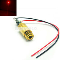 NEW 3.7-4.2V 650nm 200mW Red Laser Dot Diode Module Brass Lab/Industrial