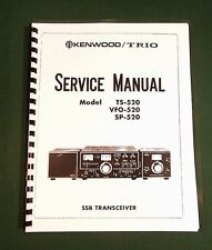 """Kenwood Ts-520 Service Manual: 11"""" X 17"""" Foldout Schematic & Plastic Covers"""