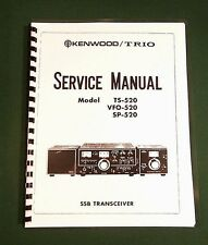 """Kenwood TS-520 Service Manual: 17"""" Foldout Schematic & Card Stock Covers"""