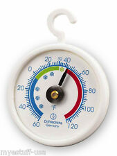 Freezer - Refrigerator - Cooler Thermometer 2.0 in. Diameter with Hanging Hook