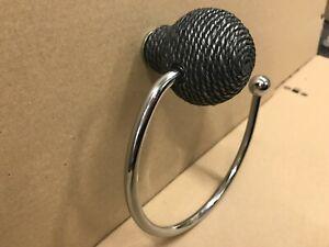 Turnstyle Designs Loop Ring Towel Holder Designer Silver Rope Ref 6