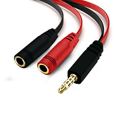 Double Female To Male Audio Aux Splitter For Samsung Captivate Glide