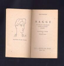 Cocteau, Saggi, Le coq et l'arlequin, Carte Blanche, Picasso, 1947 R