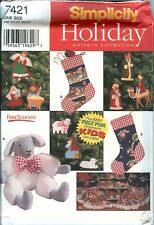 Simplicity 7421 CHRISTMAS TREE Skirt Ornaments Lamb sewing pattern UNCUT FF