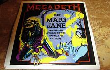 MEGADETH STICKER COLLECTIBLE RARE VINTAGE 90'S METAL VIC MARY JANE
