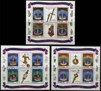 Queen Elizabeth Coronation Anniversary Souvenir Sheet Collection Barbuda Antigua