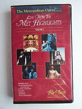The Metropolitan Opera: Live From the Met Highlights Volume I VHS Video Tape