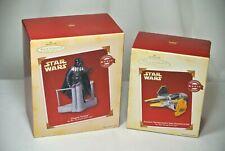 Hallmark Keepsake Star Wars Ornament Lot Darth Vader Empire Anakin Starfighter