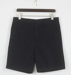 ACNE STUDIOS ADRIAN TWILL SS14 Men's (EU) 50 Dark Blue Chino Shorts 25794_JS
