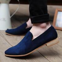 2017 New British Men's Casual Slip On Loafer Shoes Soft Driving Shoes Black
