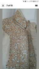 Men's Wedding Groom Pakistani Asian Traditional Kurta Clothes Eid Sheervani Suit