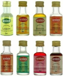 Preema 14 Different Food Flavouring Essence 28ml Bottle Halal Free P&P