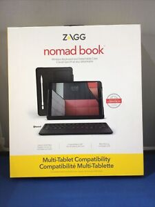 Zagg Universal Multi Device Keyboard & Case Nomad Book For Apple & Samsung More