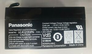 Panasonic LC-R121R3PG valve regulated lead-acid battery 12V,1.3Ah/20HR.Nonspill