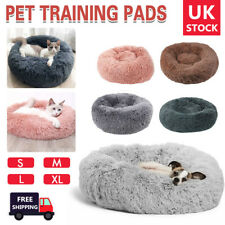 Pet Bed Dog Bed Shag Warm Fluffy Comfy Round Nest Cat Mattress Donut Pad Comfort