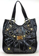 BABY PHAT HANDBAG BLACK GOLD STUDS PURSE SHOULDER BAG  ROOMY Snakeskin look
