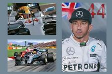 Print on paper Lewis Hamilton (GBR) 4 Times World Champion F1 by Nagtegaal (OE)