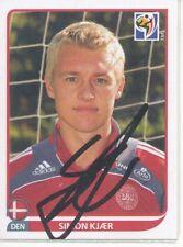 Simon Kjaer  Dänemark  Panini Sticker WM 2010 original  signiert 401775