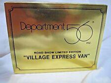 Department 56 GOLD ROAD SHOW Village Express Van **EXTREMELY RARE** NIB