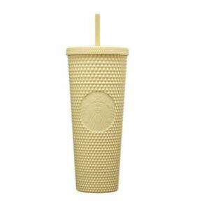 Starbucks korea 2021 Joy Butter Stud Yellow Acupressure Cold Cup 710ml
