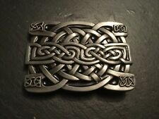 CELTIC KNOT Irish Trinity Design BELT BUCKLE Metal Scottish Scotland Ireland NEW