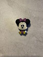 Crocs Jibbitz Shoe Charm Bling Minnie Mouse Purple Polka Dot Cute Baby Minnie