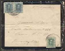 Spain To Argentina Mourning Cover 1928 3 Stamps & Letter L@@K