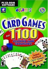Galaxy of 1100 Card Games - Poker Solitaire Euchre Rummy Bridge Cribbage Pc New