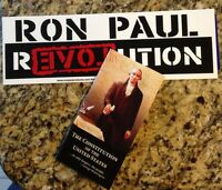 US POCKET CONSTITUTION & DECLARATION OF INDEPENDENCE RON PAUL STICKER