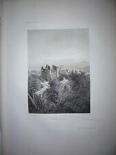 Gravure 19e Noblesse chevalerie Seigneur Jardin Chateau de Paul Haut-Médoc