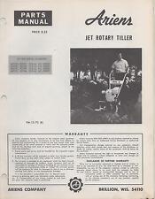 ARIENS JET ROTARY TILLER PARTS MANUAL P/N PM-13-70 (052)