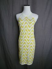 NWOT- Free People Yellow Waves Summer Halter Tank Dress- Size Small