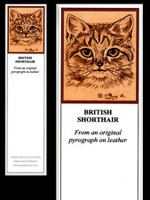 British Shorthair Cat Laminated Bookmark - Print from Original Art
