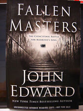 Fallen Masters SIGNED by John Edward ARC Uncorrected Advance Reading Copy NEW