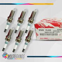 Set of 6 TOYOTA 90919-01247 DENSO 3426 FK20HR11 Spark Plugs Iridium Long Life