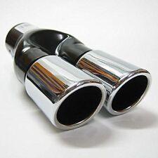 Twin Exhaust Tip Trim For Skoda Fabia Octavia Roomster Superb Yeti Rapid Citigo
