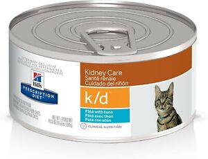 Hill's Prescription Diet k/d Kidney Care Pate with Tuna Canned Cat Food 12/5.5oz
