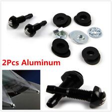 2X Black Aluminum Car Auto Front Windshield Wiper Washer Nozzle Water Jet Spray