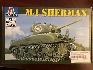 Italeri 1:72 M4 Sherman Plastic Model Kit 7003 WWII US Army tank complete