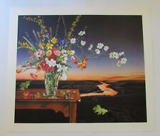 Signed P. S. Gordon Floral Still Life Serigraph Print 30/150 1997